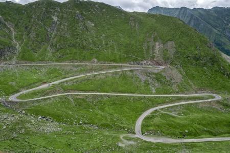 Mountain road on the Transfagarasan, Romania Fagaras Mountains photo