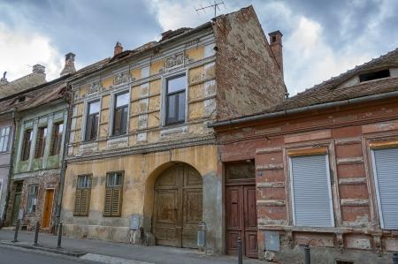 urbanized: Sibiu, town in Transylvania, Romania. Old gates of residential buildings.