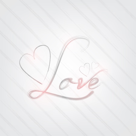 Love poster. Brush typography concept. Gray Background. Vector