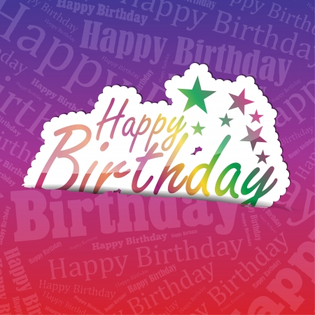 your text: Happy Birthday (sticker) on a typography background. A lot of space for your text.