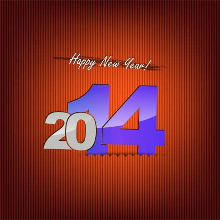 New 2014 year greeting card, with space for text. Happy new year. Stock Vector - 21731869