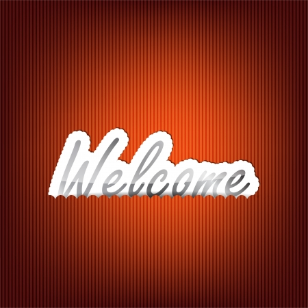 Welcome background with space for your text Vector