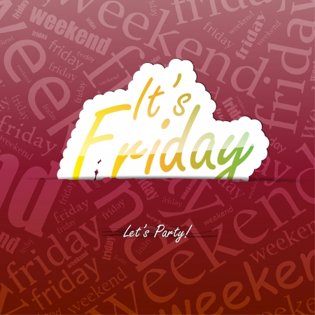 It's Friday background with space for your text Stock Vector - 21731896