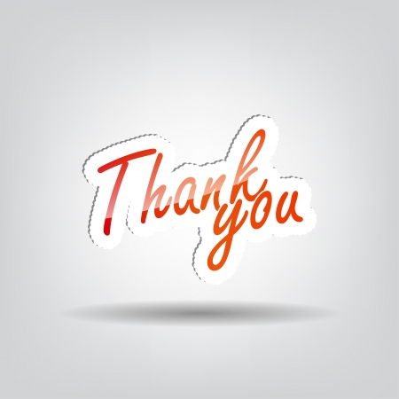 Thank you (stamp) background with space for your text Vector
