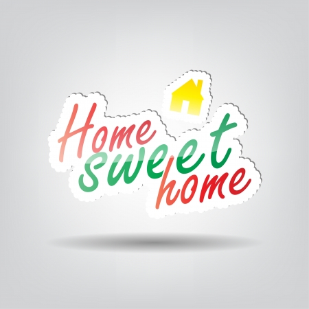 welcome home: Home sweet home background with space for your text Illustration