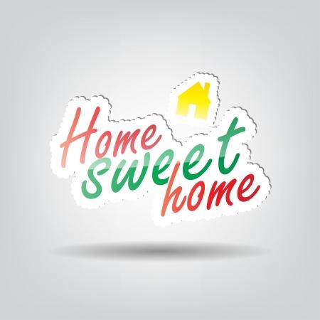 sweet home: Home sweet home fondo con espacio para el texto Vectores