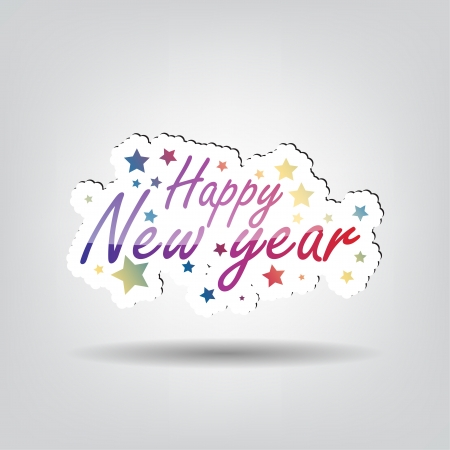 Happy New Year background with space for your text Vector