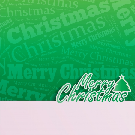 Merry Christmas background with space for your text Vector