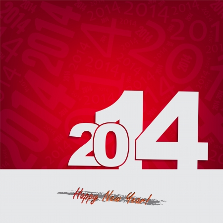 New 2014 year greeting card, with space for text. Happy new year. Illustration