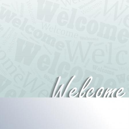 bienvenida: Bienvenido fondo con espacio para el texto