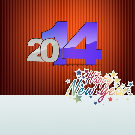New 2014 year greeting card, with space for text. Happy new year. Stock Vector - 21949865