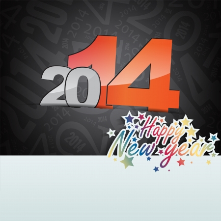New 2014 year greeting card, with space for text. Happy new year. Vector