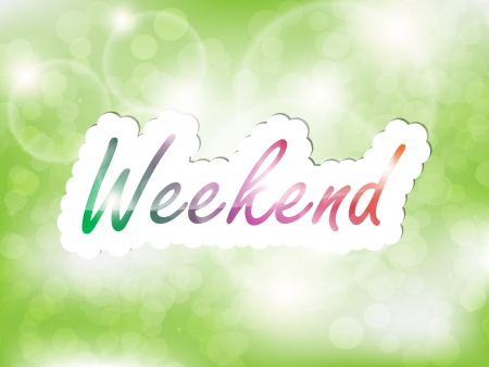 Weekend background, with space for text on the green background. Stock Vector - 21949881