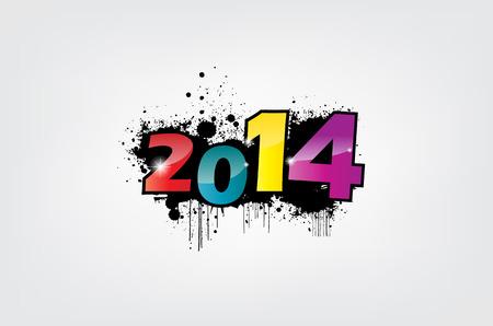 newyear: A�o nuevo 2014 fondo de pantalla, efecto del grunge.