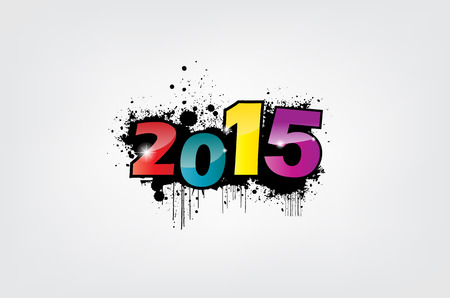 New year 2015 wallpaper, grunge effect. Stock Vector - 22587845