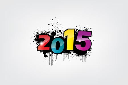 New year 2015 wallpaper, grunge effect. Stock Vector - 22587845