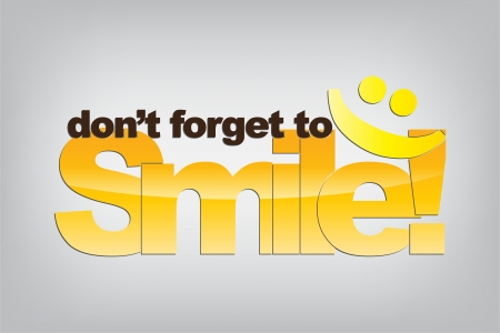Dont forget to smile. Smile Emoticon. Motivational background. Ilustração