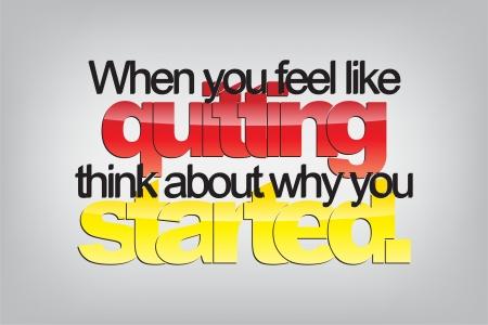 당신이 종료 같이 느낄 때, 왜 started.Typography 포스터에 대해 생각합니다. 동기 배경 일러스트