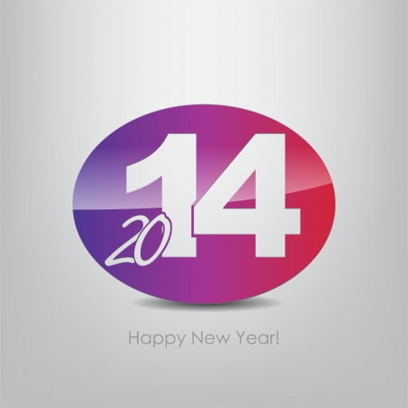 New year 2014 poster. Typography background. Happy new year. Stock Vector - 23238107
