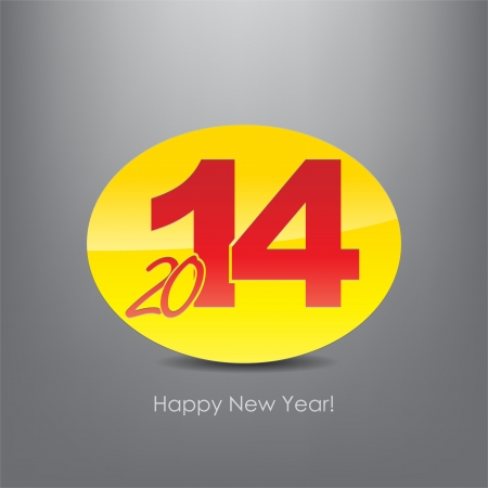 New year 2014 poster. Typography background. Happy new year. Stock Vector - 23238108