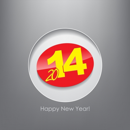 New year 2014 poster. Typography background. Happy new year. Vector