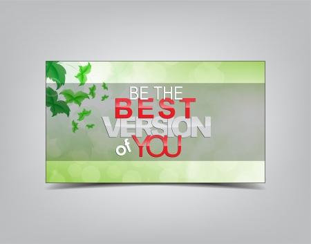 버전: Be the best version of you. Motivational background. Typography poster.