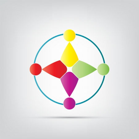 proffesional: Abstract icon. Colorful abstract icon isolated on a white background.