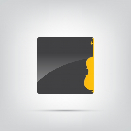 contra bass: Abstract icon. Black music icon isolated on a white background.