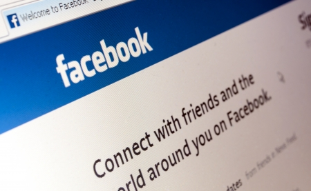 Bucharest, Romania - Jan 23, 2014: Photo of Facebook web page. Facebook is an online social networking service. Its name comes from a colloquialism for the directory given to students at some American universities. Editorial