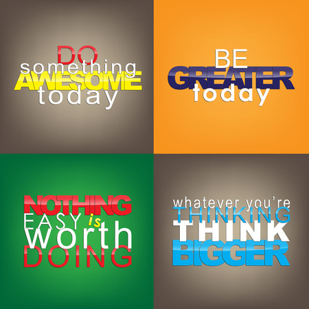 whatever: Set Of Typographic Backgrounds. Motivational Quotes. Backgrounds With Calligraphic Elements