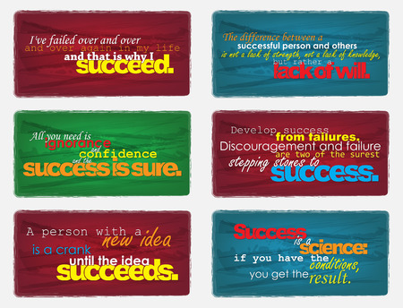 Set Of Typographic Backgrounds. Motivational Quotes. Backgrounds With Calligraphic Elements Vektoros illusztráció