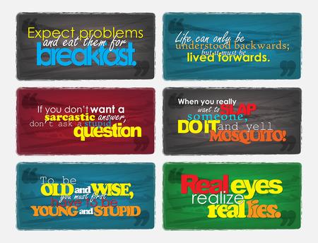 backwards: Set Van Typografische Achtergronden. Motivational Quotes. Achtergronden Met Kalligrafische Elementen