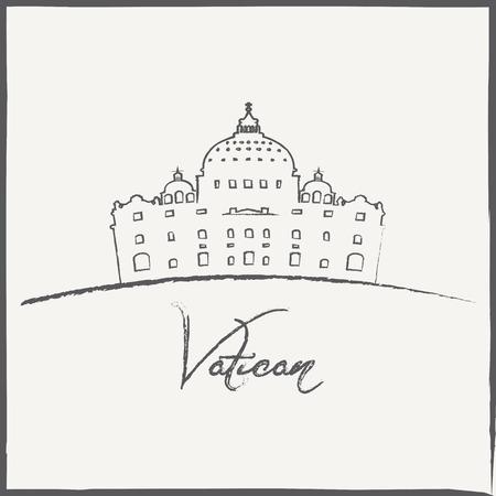 Vector Minimal Design Vatican Museum Poster   Vector