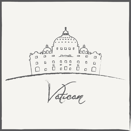 peter: Vector Minimal Design Vatican Museum Poster   Illustration