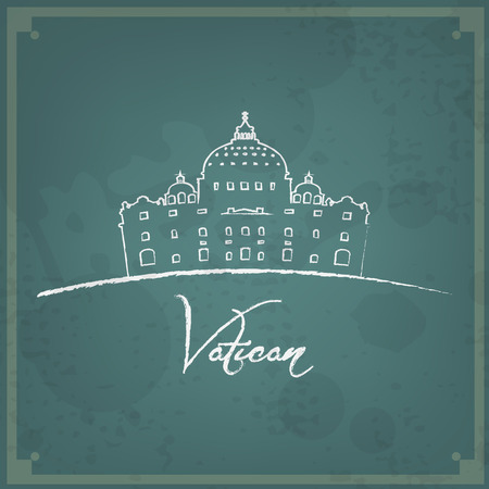 peter: Abstract vintage background. Brushed illustration with Vatican.