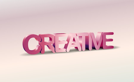 single word: 3D Creative text with shadow, word background