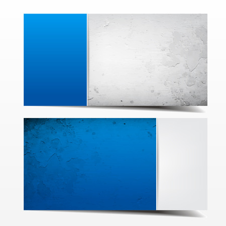 Blue and grey grunge template. Great use for business cards, backgrounds or banners.