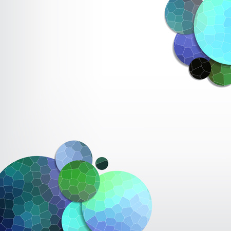with space for text: Abstract background with mosaic circles. Space for your text.