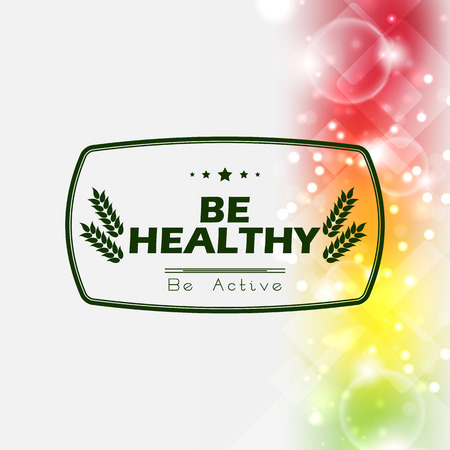 healty: Be healty background. be active poster with spectrum background Illustration