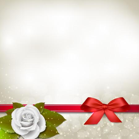 rose blanche: Contexte de rose blanche avec des feuilles vertes et espace pour le texte.