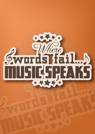 amplify: Where words fail... music speaks. Motivational poster Illustration