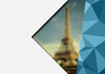 Abstract Paris background with space for text Vector