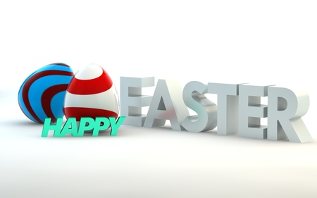 easter background: Colorful Easter background. 3d render illustration. with space for text