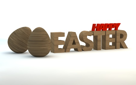 Woodl Easter background. 3d render illustration. with space for text illustration