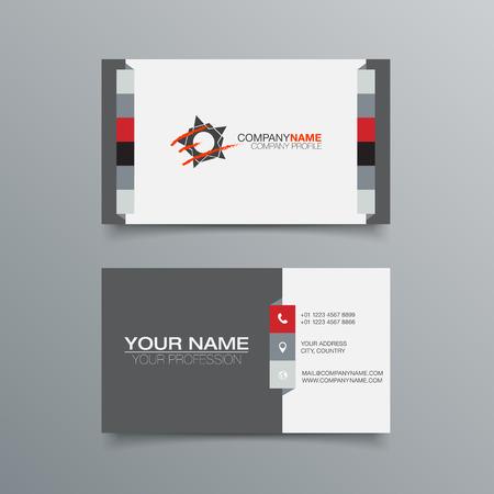 personalausweis: Visitenkarte-Hintergrund-Design-Vorlage. Vektorgrafik-