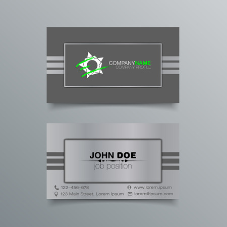 minimalistic: Business Card Background Design Template. Stock Vector Illustration