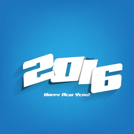 chinese ethnicity: Happy new year 2016 celebration greeting card design.
