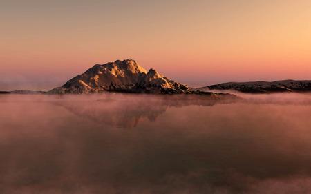 winter sunrise: Summer sunrise in Antarctica. Beautiful winter background.