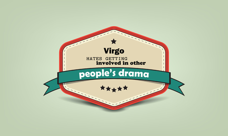 hate: fun facts, virgo, hate, getting, involved, other, people, drama, retro, badge