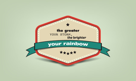 brighter: The greater your storm, the brighter your rainbow. Motivational poster